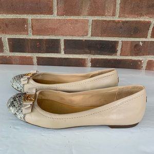 Sperry top sider nude colorblock flats